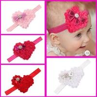 Valentines baby headband Baby Infant girls headband Red Christmas Headbands Heart hairband Hair bows Photo Prop 10pcs HB336