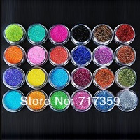 1set Nail Tools New 24Colors Nail Art Tool Kit Acrylic UV Powder Make up Metal Shiny Glitter Dust nail art glitter ay600271