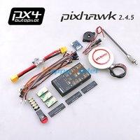 Pixhawk PX4 Autopilot PIX 2.45 2.4.5 Flight Controller Board 32 bit ARM+Ublox NEO-6M/6H/M8N GPS w/Compass+Power Module+Buzzer