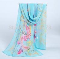 2015 new Butterfly Scarves women scarf chiffon Bohemia fashion style silk scarf free shipping