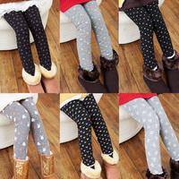 2015 autumn and winter female pants baby kids plus velvet thickening legging long trousers warm for girls