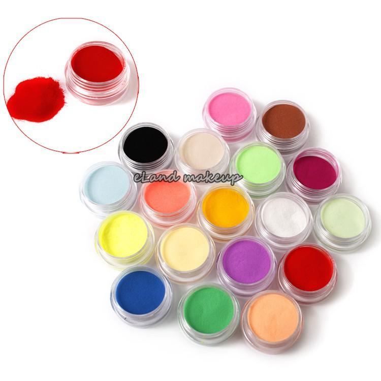 18 Colors DIY Colourful Acrylic Powder Dust Set For 3d Art Free shipping Nail Acrylic Powder Liquid Mold Coloured carving powder(China (Mainland))