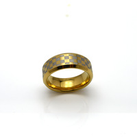 Free Shipping 8MM Tungsten Carbide 18K Gold Ring  Wedding Band For Men&Women Available Size 5#-14#  TU068R