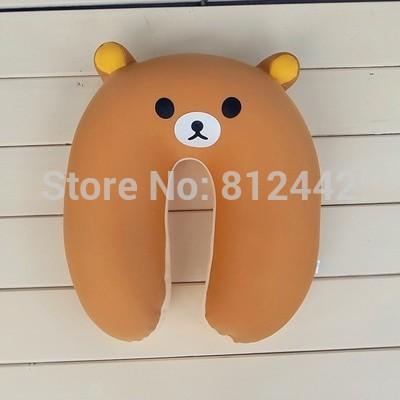 Kawaii Cute Japanese Style Bear Plush Toy Rilakkuma Pillow Cushion For Neck Car Accessory Girlfriend Boyfriend Birthday Gift(China (Mainland))
