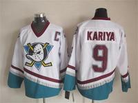 2015 New Anaheim Ducks Jerseys Ice Hockey Jersey Mix Orders Embroidery Logos #9 Paul Kariya White CCM Vintage jersey1461