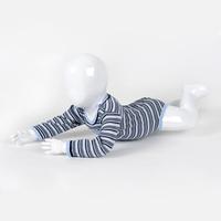 Promotion! Cheapest 100% Cotton Yarn Dye Stripes 9-24M Long Sleeve Baby Boys Bodysuits
