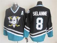 2015 New Anaheim Ducks Jerseys Ice Hockey Jersey Embroidery Logos Mix Orders #8 Teemu Selanne Black CCM Vintage jersey1456