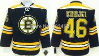 2015 New Boston Bruins Jerseys Kids Ice Hockey Jersey Embroidery Mix Orders #46 David Krejci Black jersey1466