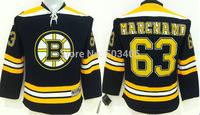 2015 New Boston Bruins Jerseys Kids Ice Hockey Jersey Mix Orders Embroidery Logos #63 Brad Marchand Black jersey1467