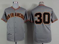 2015 New San Francisco Giants Jerseys Baseball Jersey Embroidery Logos Mix Orders #30 Orlando Cepeda Gray Throwback jersey1471