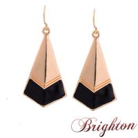 Fashion Jewelry Gold/Silver Plated Alloy Vitage Style Enamel Geometric Shaped Chunky Women Dangle Earrings