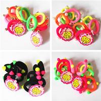 10 pcs sweet  charm decor kids hai ties hair rope for baby girls hair accessories