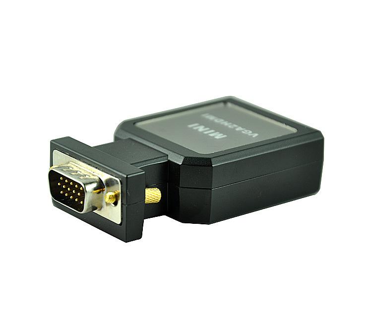 Puter даже тв VGA для HDMI преобразователь интерфейса для импульсный источник аудио HD революция мать повязка на голову , связанные с проектором