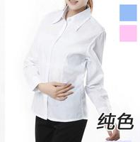 2015 Slim long-sleeved cotton shirt blouses occupation women clothing Top collar shirt  plus size CS123