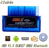 High-quality OBD V1.5 ELM 327 OBD2 Auto Scanner OBDII 2 Car elm327 bluetooth Tester Diagnostic Tool for Android Windows Symbian