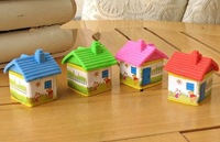 Cute little cartoon house removable rubber eraser rubber creative students prizes