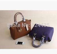 DA357 New cross pattern Smiling face Hobos Genuine Leather 100% Zipper handbag shouder bag wholesale drop shipping free shipping
