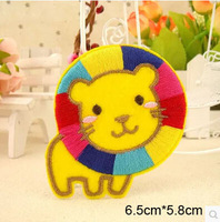Free shipping 10pcs/lot sew-on cartoon lion fabric patches  for baby/kids clothes