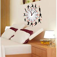 Personalized diy wall clock wall clock home wall stickers fashion mute clock basketball sports clocks