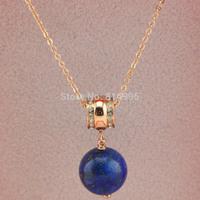 rose colour titanium steel king green natural lapis pendant necklace