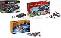 Baby Toys Decool 7105-7107 Building Blocks Super Heroes spiderman big green goblin WARBIRD Minifigures Bricks action Toys