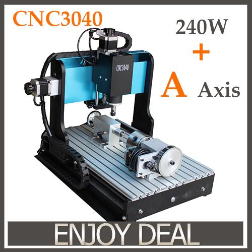 Быстроходный деревообрабатывающий фрезерный станок NEW CNC 3040 4 , 240W