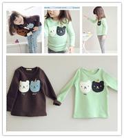 2015 Spring children's sets cubs backing shirt + leggings girls sets baby cotton suit