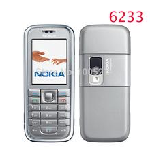 Refurbished original Nokia 6233 mobile phone with 2MP camera 3G loud speaker support Russian menu Russian