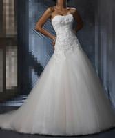 Hot Sale ! Free Shipping ! 2015 New Arrival Applique Women's A Line Vestidos de noiva White / Ivory Wedding Dresses OW 20151