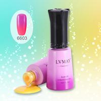 24pcs DHL Free Shipping With Light Changing colors polish New nail gel polish (22colors+1top+1base) Uv gel