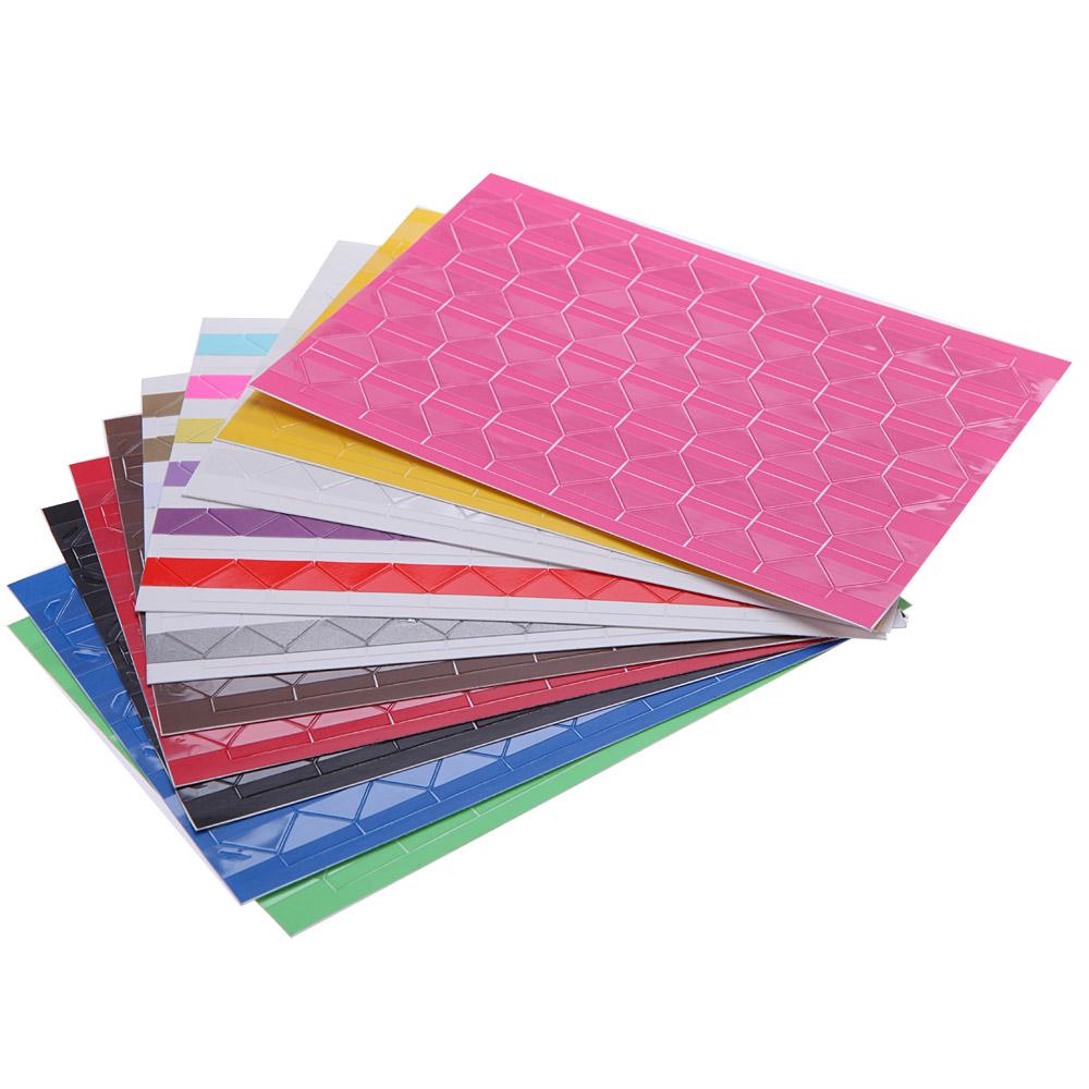 10 Sheet DIY Photo Album Scrapbook Corner Sticker PVC Colorful Paper Corner Stickers(1 Sheets=102 Pcs Corner Stickers)(China (Mainland))