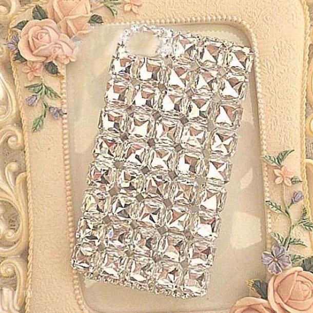 Shiny diamonds rhinestone case for apple iphone 6 4.7 6 plus 5.5 beautiful square diamond phone case back cover free shipping fz(China (Mainland))