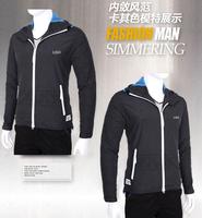 2015 Thin Spring Autumn Mens Outdoors Windbreaker Brand Jackets Man Long Sleeve Hooded Zipper Sport Coats  #121065