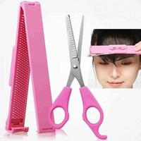 FREE SHIPPING Women DIY Hair Bangs Tool Kit Makeup Styling Clippers Scissors Set
