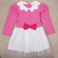 Girl party dress Nova brand children character pattern ball gown knee-length peppa pig evening dress hot sale free shipping