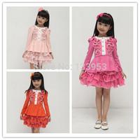2015 Wholesale 5pcs/lot New Arrival Girl Dresses Cartoon Tutu Dresses Kids Love Children's Clothing Free Shipping DA611
