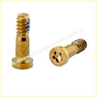 100pcs/lot for iphone 6 & 6 Plus Pentagon Star-Shape botton dock screw gold color , Free ship