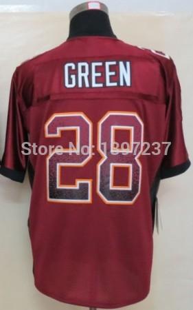 28 Darrell Green Jersey,Embroidery logos Elite men Red Drift Fashion size 60 Washington American Football Jersey Free Shipping(China (Mainland))