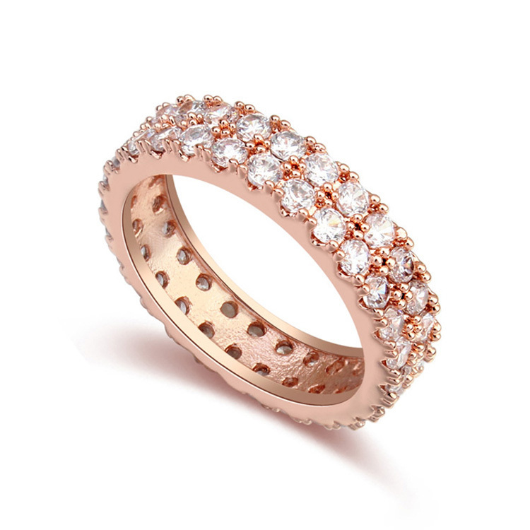 new Korean Trend Model Girl sell well gold ring Love Waltz CZ Ring 110004&Pop Rings(China (Mainland))