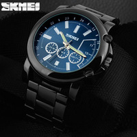 New 2015 SKMEI Brand Fashion Men's Full Steel Quartz Watch Casual Luxury Dress Wristwatches Waterproof Business Watches