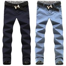 New 2015 spring 100% cotton casual male pants multi-pocket slim fit skinny pants men plus size pantalones Men's Clothing /XXK2