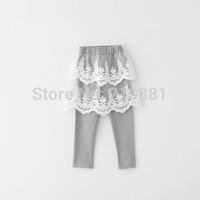 2015 Girls spring lace leggings , baby leggings , kids leggings , 5pcs/lot   ZJF02