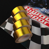 Reflective adhesive thermo shield tape in Gold