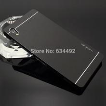 Motomo Luxury Metal Brush Hard Case For Sony Xperia Z2 D6503 D6502 L50W Back Cover Aluminum Back Case Capa Celular(China (Mainland))