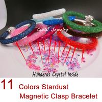 Factory Price!Punk Style Stardust Bracelet, Crystal Jewelry charms Bracelets, Jewelry Bracelet Crystal 11 Color Can Choose