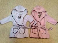 New Brand Baby&Kids casual Tracksuit/Children's long sleeve Hooded Bathrobes,Unisex Nightgownds/Kids Sleepwear& Robes+Free Shipp