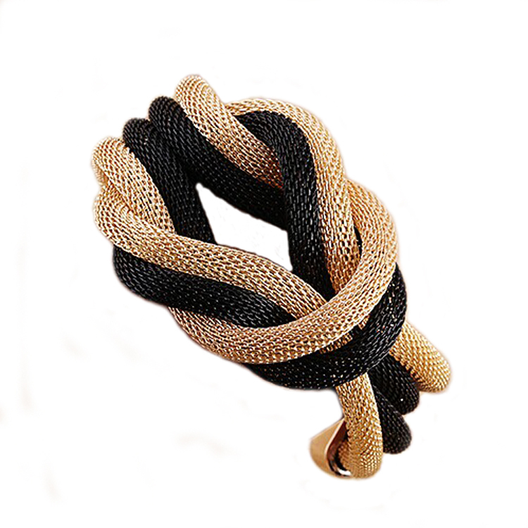 Ms new Korean Model crystal bracelet jewelry gift Hot style big national wind woven chain bracelet B543Sell well(China (Mainland))