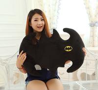 2015 new arrival,high qulity 700g 68cm Superhero Black Batman Cushion, cartoon batman pillow,free shipping