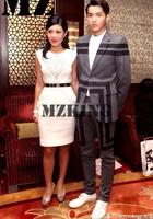 M-4XL ! Men brand new fashion DJ nightclub singer EXO deep gray stripe suit super good thick fabric costumes stage formal dress