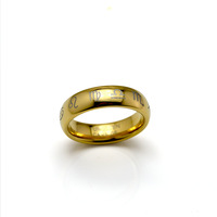 New Arrival 6MM 18K Gold Tungsten Carbide Ring Women Jewelry Wedding Bands Comfort Fit  Available Size 5#-11#  TU065R